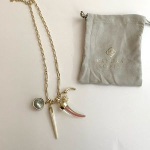 Kendra Scott Gold charm necklace
